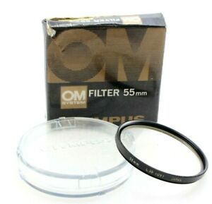 Genuine OLYMPUS 55mm UV filter, case and boxed, UK seller
