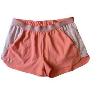 Under Armour Womens Heatgear Loose Fit Training Running Shorts Pink XL