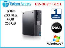 Dell OptiPlex 980 SFF i7 870 860 2.9G 4G 250G Win 7 1Yr Warranty Dual Display