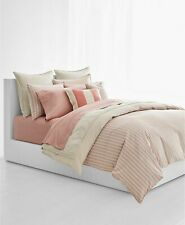 Nip Ralph Lauren Graydon Dune Nantucket Red Striped King Comforter Set 3pc