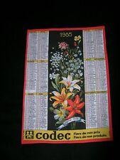 Torchon calendrier année 1985  fabriqué en france neuf
