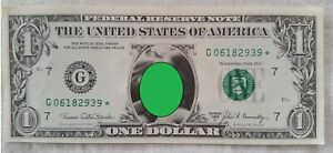 1969 American one dollar note with novelty pictures on.