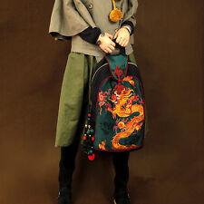 Hmong Tribal Ethnic National Rucksack Embroidery Dragon Hippie Backpack Bag
