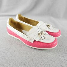 34cca0625df DISPLAY Peter Millar LS15F13 Hot Pink White Patent Leather Driving Loafer 7  ANB