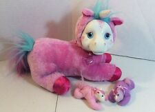 JUSUB Pony Surprise Plush Starburst Unicorn With Two Babies