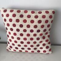 "Laura Ashley Cranberry Lemington Cushion 15""x15"""
