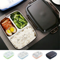 3 Grid Portable Lunch Box Bento Insulated Stainless Steel Thermal Food Container