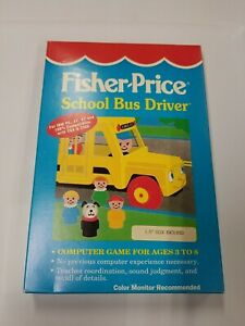 fisher price school bus driver game RARE. 3.5 Complete