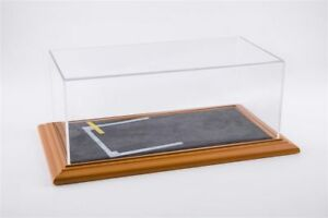 Showcase Display Case Starting Grid Diorama Cherry Wood Hand Made For 1: 18/1: