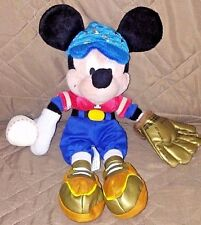 Walt Disney World Mickey Mouse Baseball Player Plush Red Blue Glove Ball