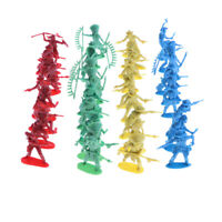 40 Pieces 5cm Army Indian Aboriginal Soldier with Weapons Set Action Figures