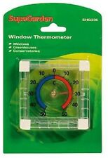 Supagarden Greenhouse Conservatory Indoor Outdoor Window Thermometer