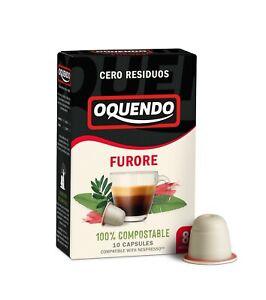 Oquendo Furore 100% Compostable nespresso compatible coffee capsules-90 capsules