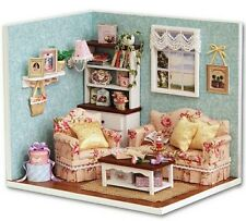 Dolls House Sala fai da te con mobili e gli accessori