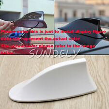 Universal White Car Shark Fin Aerial Antenna Roof AM/FM Radio Signal For Audi A3
