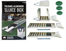 "SE 50"" Folding Aluminum Sluice Box & 3 FREE GOLD PANS!!!!"