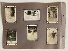 11 PHOTO ANCIENNE Extrait  ALBUM 1927 Enfant Vélo Baigneuse Plage Religieuse