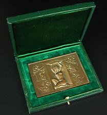Médaille à François Rebours Femme nue à la palme 1977 Nude woman Coëffin Medal