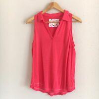 Anthropologie Maeve Womens Size Medium Pink Linen Blend Sleeveless Tank Top