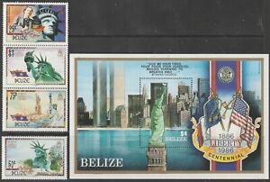 Belize 1986 #817-19 Statue of Liberty, Centenary - MNH