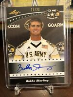 2011 LEAF ARMY ALL AMERICAN BUBBA STARLING AUTO Kansas City Royals /20 Nebraska