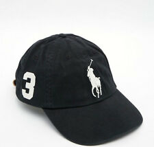 NEW! Black/White POLO Adult Hat Ralph Lauren BIG PONY Classic Sport Cap