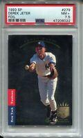 1993 SP Foil Baseball 279 Derek Jeter Rookie Card RC Graded PSA Nr MINT 7.5 '93