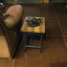 Hand Made Rustic Set of 2 End Tables