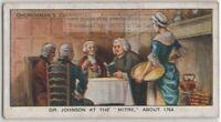Dr. Johnson At The Mitre Tavern 1764  London England  80+ Y/O Ad Trade Card
