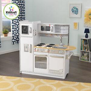 Kidkraft Uptown White Kitchen - Large Wooden Play Kitchen