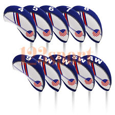 New 10pcs US Golf Iron Cover Headcovers For Cleveland Titleist Cobra Mizuno Ping