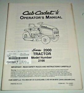 Cub Cadet 2166 Lawn Garden Tractor Operators Owners Maintenance Manual Original!