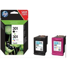 KIT Cartucce multipack ORIGINALE HP 301 nero + colore per Envy 4500 e-All-in-One