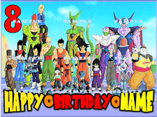 DRAGON BALL Z : Personalized Edible Cake Topper  FREE SHIPPING in Canada