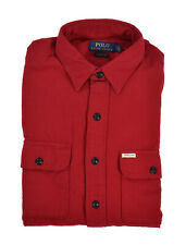 Polo Ralph Lauren Red Classic Fit Cotton Flannel Work Shirt New $145