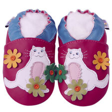 Littleoneshoes(Jinwood) Soft Sole Leather Baby Toddler Kitty&Flower Shoes 12-18M