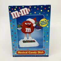 M&M Musical Candy Dish Christmas Holiday Vintage Mars