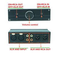 Balanced XLR RCA stereo Audio Volume Controller Passive Preamp Switcher Box HIFI