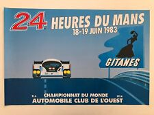 LE MAN 24 HOURS,1983,PORSCHE,GITANES, RARE LICENSED 1990's POSTER