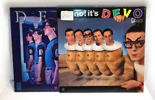 """LOT 2x DEVO LP 12"""" Albums New Traditionalist & Oh No!  80s New Wave Punk Synth"""