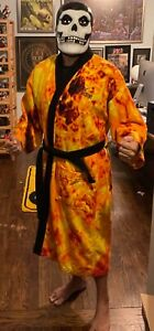 Harley Davidson Official Flames Fire Robe Embroidered Terry Cloth Unisex