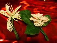 Artigianato, i Fiori Spilla Massonica in Perle o Pastiglie Cappelli o Altri