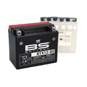 Batería Piaggio BS YTX12-BS Cargado Vespa LX Es Decir, E3 4V 125 2009 2010 2011