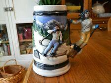 Mr.Ceramics from Iola Wisconsin Downhill Skiing Stein - Large Beer Mug