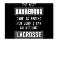 Dangerous Lacrosse Sticker - Landscape