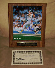 MARK MCGWIRE Signed Autographed ROY 8X10 Baseball Photo Picture Plaque EXRARE