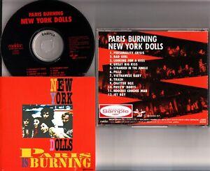 The New York Dolls- Paris Is Burning Live 1973 JAPAN CD *SAMPLE/PROMO* rare OOP