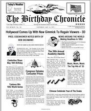Personalized Birthday Chronical Newspaper Print