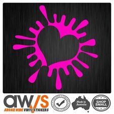 HEART STICKER DECAL PAINT SPLAT FOR GIRLS CAR WINDOW WALL CUTE GIRLY LOVE