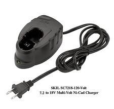 NEW SKIL SC7218-120V - 7.2 to 18 Volt Multi-Volt Ni-Cad Battery Charger
